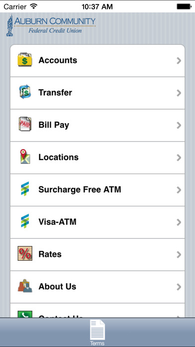home banking app